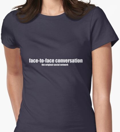 Social Networking Womens Fitted T-Shirt