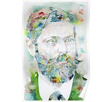 SIGMUND FREUD - watercolor portrait.8 Poster