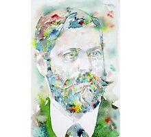 SIGMUND FREUD - watercolor portrait.8 Photographic Print