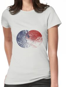 Abstract Circles Womens Fitted T-Shirt