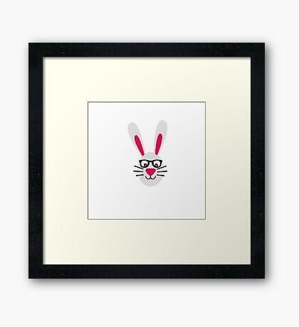 Nerd Rabbit Framed Print