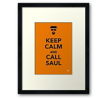 My Keep Calm Breaking Bad-poster Framed Print