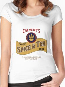 Calvert's Exotic Spice and Tea Shop Women's Fitted Scoop T-Shirt