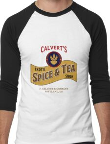 Calvert's Exotic Spice and Tea Shop Men's Baseball ¾ T-Shirt