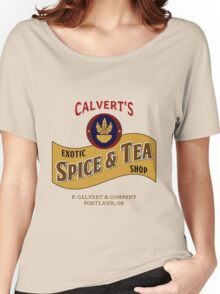 Calvert's Exotic Spice and Tea Shop Women's Relaxed Fit T-Shirt