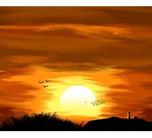 Countryside Sunset Photographic Print