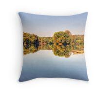 Potomac River In Autumn Throw Pillow