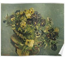 Van Gogh  - Basket of pansies Poster