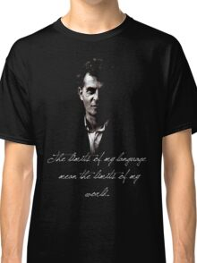 The limits of my language mean the limits of my world - Wittgenstein Classic T-Shirt
