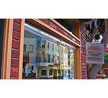 Columbus Street Window Reflection Photographic Print
