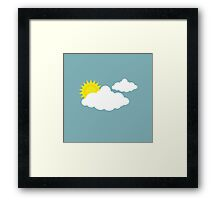 Up in the Clouds Framed Print