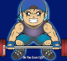 Do you even lift? Gym Tee, weights, training, insanity, intense, dumbbell by TishatsuDesigns