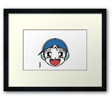 The Original Tishatsu Logo - Note, music, cute, face, anime, chibi, manga,  Framed Print