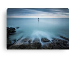 Time to reflect...7 minute exposure on Eastbourne seafront Canvas Print