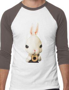 Mr. Bunny loves donut Men's Baseball ¾ T-Shirt