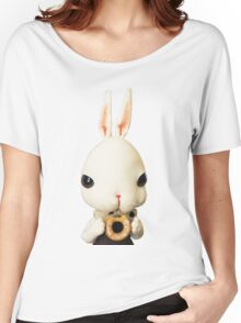 Mr. Bunny loves donut Women's Relaxed Fit T-Shirt