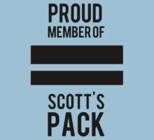 PROUD MEMBER OF SCOTT'S PACK Kids Clothes