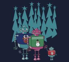 Robot Family Christmas Eve Kids Tee