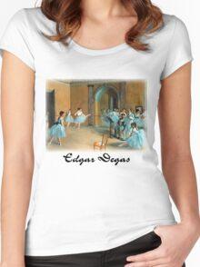 Edgar Degas - Rehearsal of the Scene Women's Fitted Scoop T-Shirt