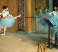 Edgar Degas - Rehearsal of the Scene Sticker