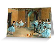 Edgar Degas - Rehearsal of the Scene Greeting Card