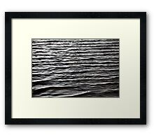 night sea waves background Framed Print