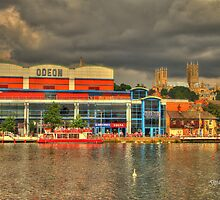 Lincoln from the Brayford HDR by Jonathan Cox