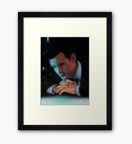 Dr Who Matt Smith Framed Print