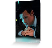 Dr Who Matt Smith Greeting Card