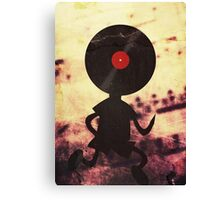 Vinyl Man! Vinylized!!! Vinyl Records DJ Retro Music Lovers T-Shirt Stickers Prints Canvas Print