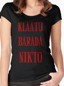 KLAATU BARADA NIKTO Women's Fitted Scoop T-Shirt