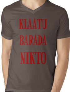 KLAATU BARADA NIKTO Mens V-Neck T-Shirt