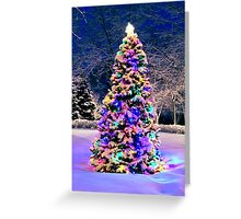 Christmas tree outside Greeting Card