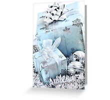 Christmas gift boxes Greeting Card