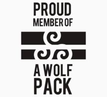 PROUD MEMBER OF A WOLF'S PACK Kids Tee