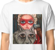 Huntress with her spirit wolf Classic T-Shirt
