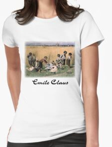 Emile Claus - On the Way to School Womens Fitted T-Shirt