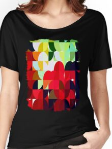 Mixed Color Poinsettias 2 Abstract Circles 1 Women's Relaxed Fit T-Shirt