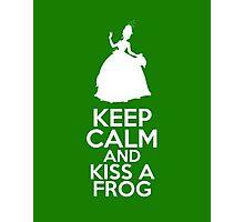 Keep Calm and Kiss a Frog (Tiana, Princess and the Frog) Photographic Print