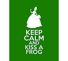 Keep Calm and Kiss a Frog (Tiana, Princess and the Frog) Photographic Print