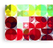 Mixed Color Poinsettias 2 Abstract Circles 3 Canvas Print
