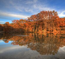 Texas  Hill Country Images - Pedernales Falls State Park Autumn Sunset 2 by RobGreebonPhoto