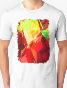 Mixed Color Poinsettias 2 Abstract Polygons 1 T-Shirt