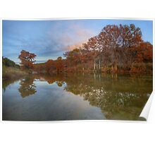 Texas Hill Country Images - Pedernales Falls State Park Autumn Sunset 5 Poster
