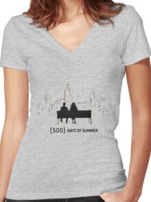 (500) Days of Summer Women's Fitted V-Neck T-Shirt