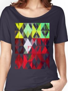 Mixed Color Poinsettias 2 Abstract Triangles 1 Women's Relaxed Fit T-Shirt