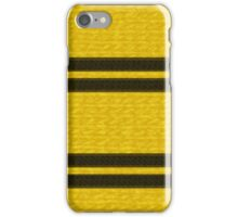 Knitted Scarf - Hufflepuff iPhone Case/Skin