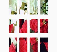 Mixed Color Poinsettias 2 Art Rectangles 2 Unisex T-Shirt