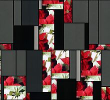 Mixed Color Poinsettias 2 Art Rectangles 7 by Christopher Johnson