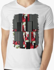 Mixed Color Poinsettias 2 Art Rectangles 7 Mens V-Neck T-Shirt